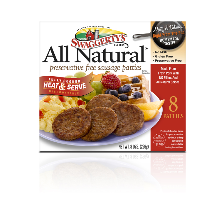 Heat & Serve All Natural Breakfast Sausage Links by Swaggerty's Farm® | Fully Cooked | Box, 8oz