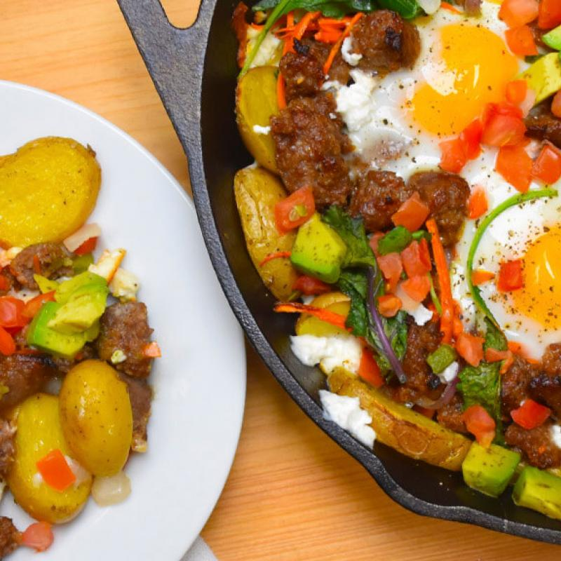 Breakfast Skillet Recipe by Swaggerty's Farm®