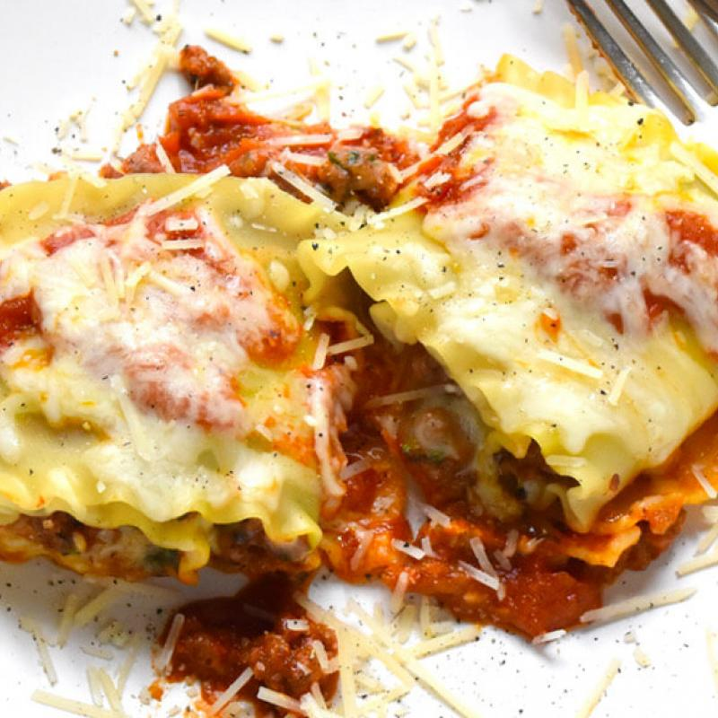 Sausage Lasagna Rolls Recipe by Swaggerty's Farm®
