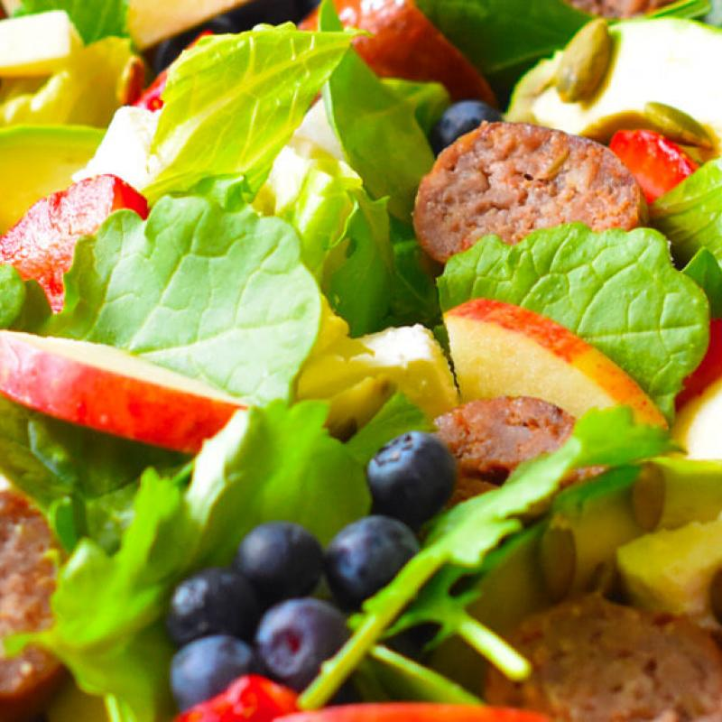 Sausage, Berries & Feta Salad Recipe