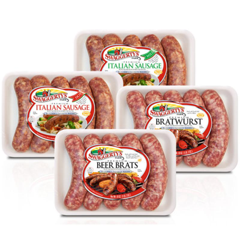 Brats, Beer Brats, and Italian Sausage Links by Swaggerty's Farm