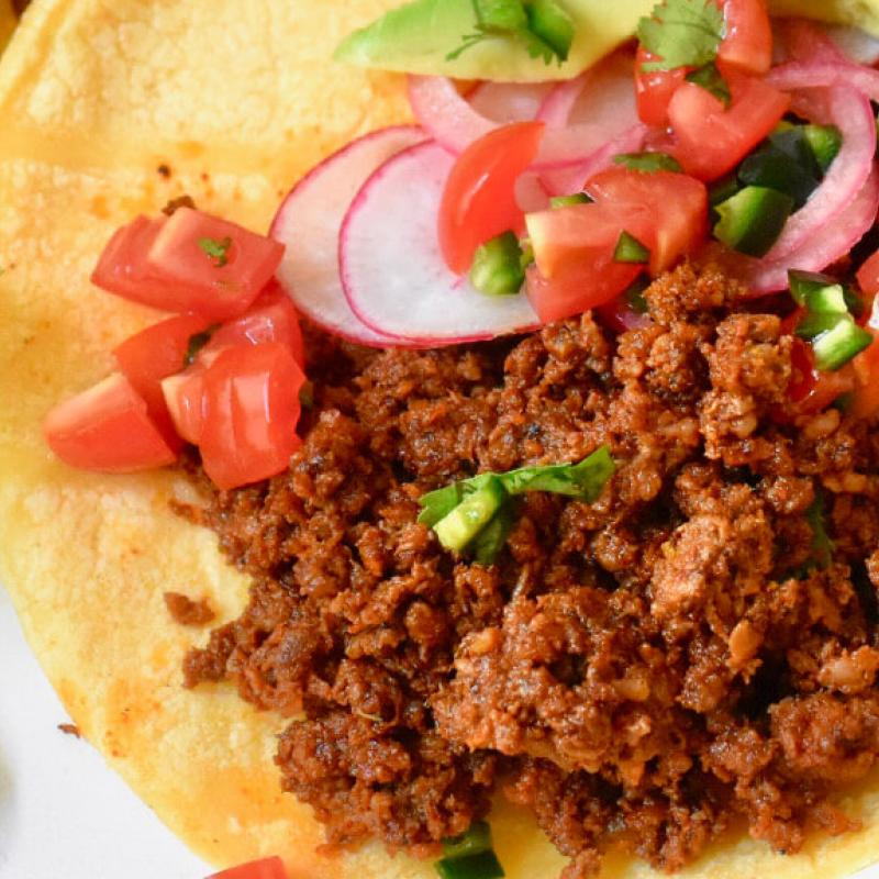 Tacos with Swaggerty Style Chorizo Recipe by Swaggerty's Farm®