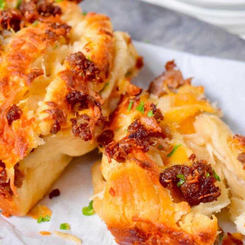 Pull-Apart Sausage Biscuits Recipe by Swaggerty's Farm®