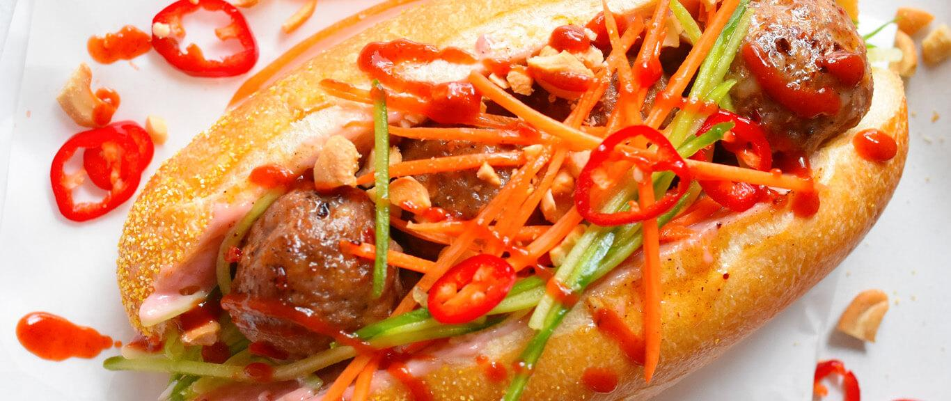 Asian Meatball Sandwich recipe by Swaggerty's Farm®