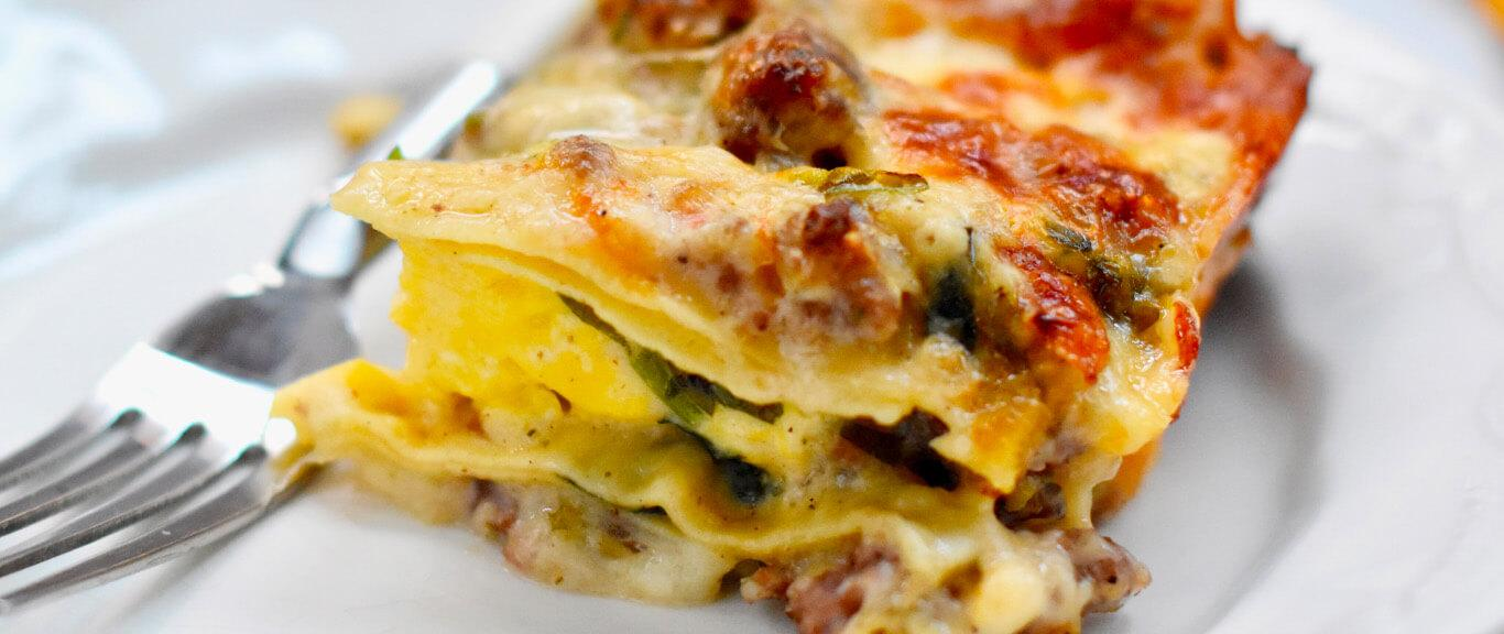 Make-Ahead Sausage Gravy & Egg Breakfast Lasagna Recipe by Swaggerty's Farm®