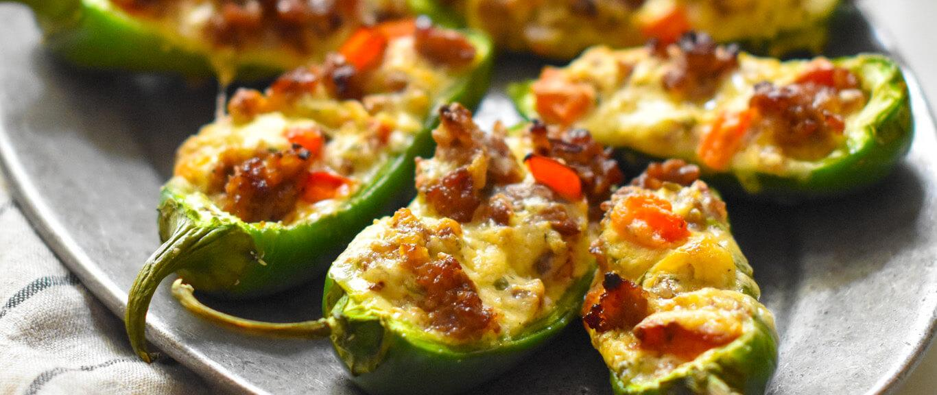 Stuffed Jalapeño Party Poppers by Swaggerty's Farm