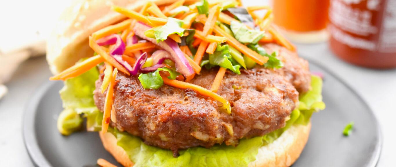 Asian Sausage Burgers Recipe by Swaggerty's Farm®