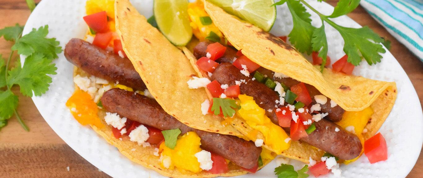 Breakfast Tacos Recipe by Swaggerty's Farm®