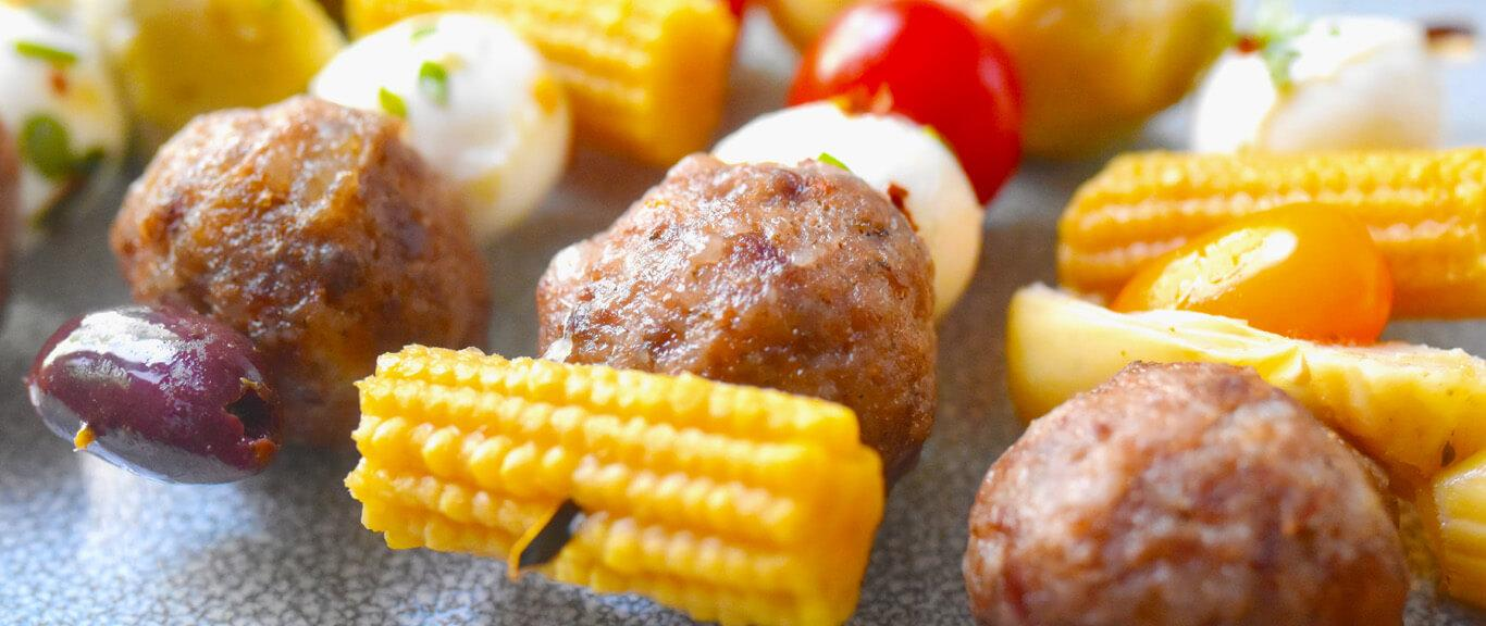Sausage Antipasto Bites Recipe by Swaggerty's Farm®