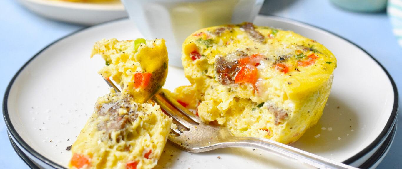 Gluten-Free Sausage & Egg Muffins Recipe by Swaggerty's Farm®