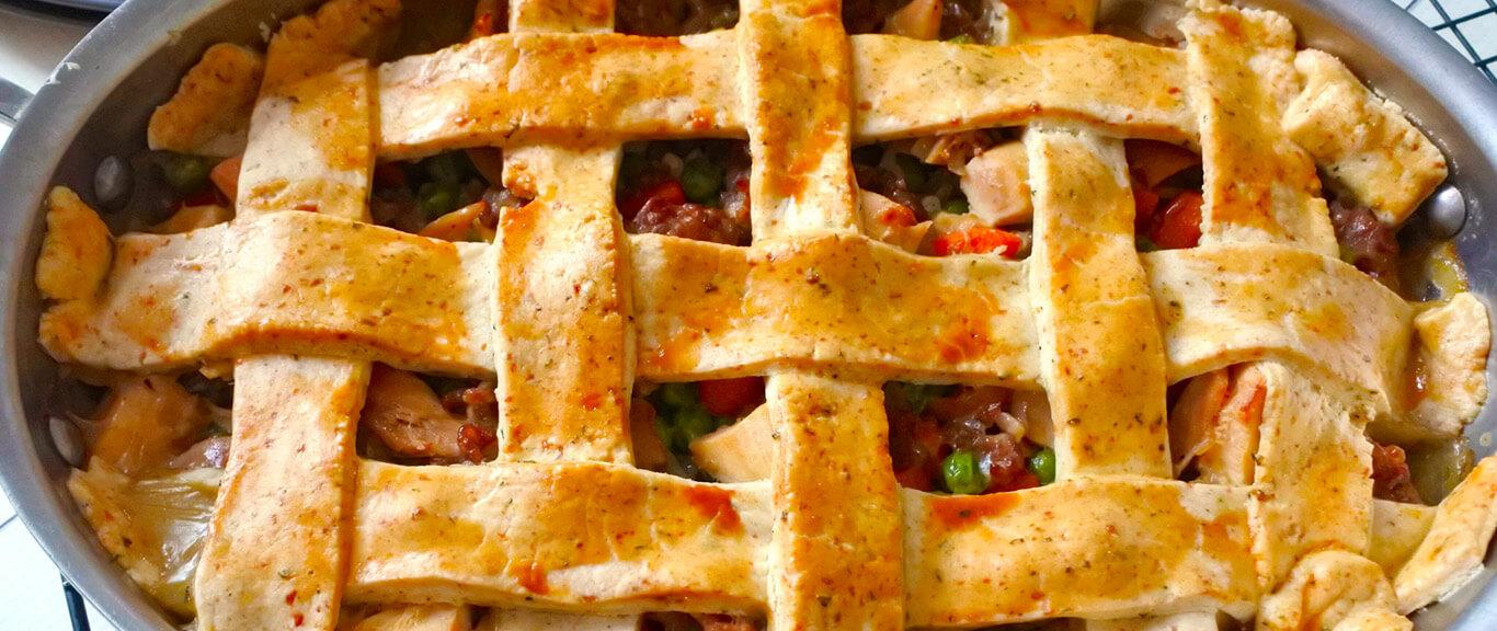 Turkey & Sausage Pot Pie recipe by Swaggerty's Farm®