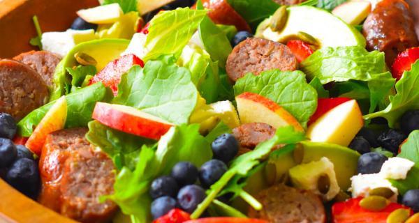 Sausage, Berries & Feta Salad Recipe