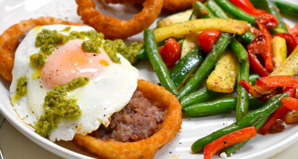 Sausage Filled Onion Rings Recipe by Swaggerty's Farm