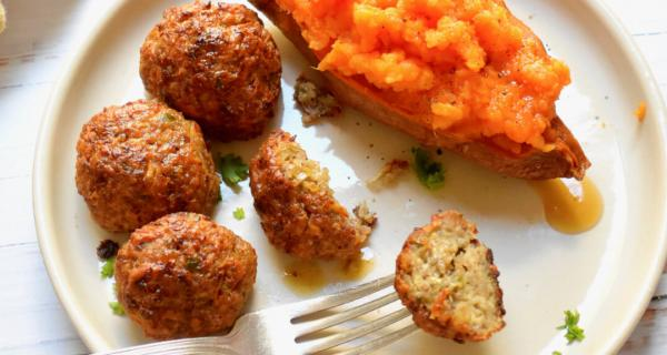 Sausage & Apple Meatballs Recipe by Swaggerty's Farm®
