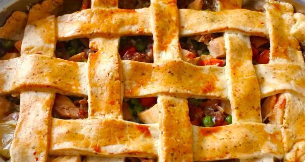 Turkey & Sausage Pot Pie recipe by Swaggerty's Farm®
